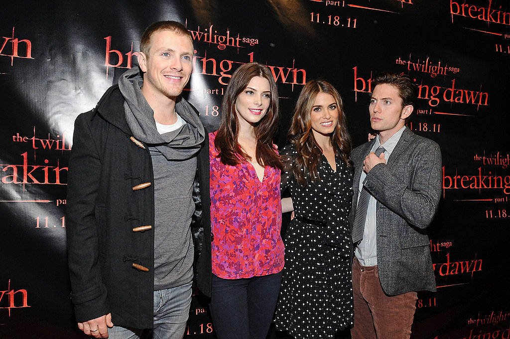 Charlie Bewley, Ashley Greene, Nikki Reed, and Jackson Rathbone got together at a Breaking Dawn event in San Francisco.