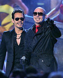 Marc Anthony and Pitbull performed at the Latin Grammy Awards.