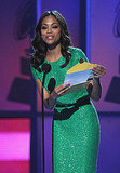 Zoe Saldana sparkled on stage in Las Vegas.