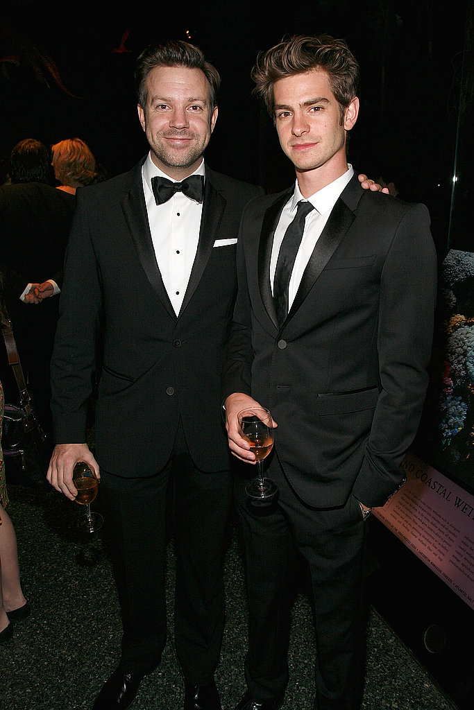 Andrew Garfield posed with Jason Sudeikis at the Museum of Natural History gala.