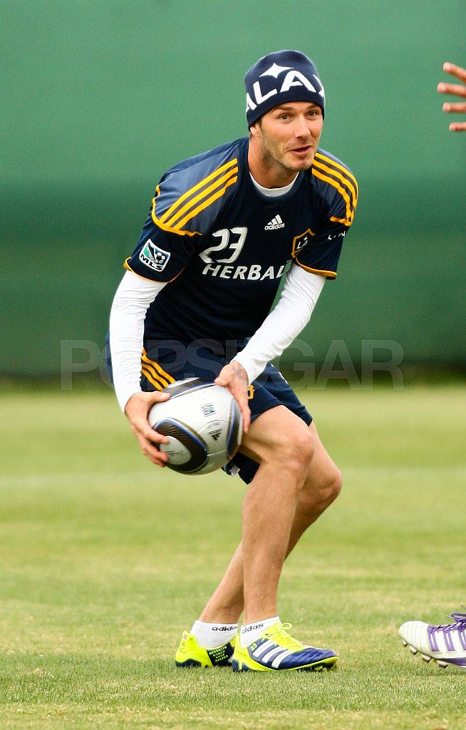 David Beckham in uniform.