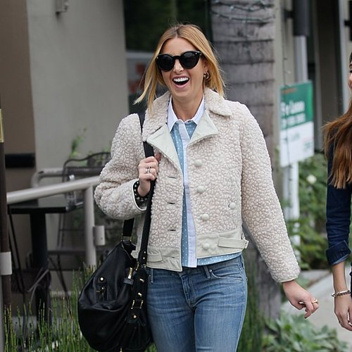 Whitney Port in Shearling Jacket in Beverly Hills