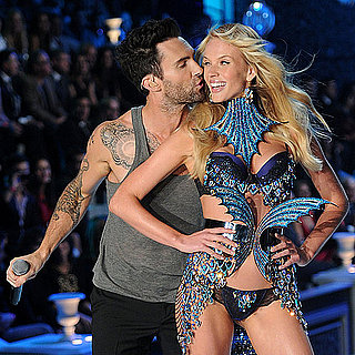 Adam Levine & Anne V at Victoria's Secret Show