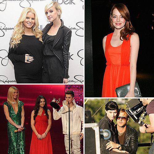 Celebrity Pictures of Pregnant Jessica Simpson, Ryan Gosling, Emma Stone, Gwyneth Paltrow