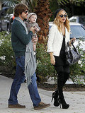 Rachel Zoe and Skyler Berman donned matching hats for lunch with Rodger Berman.