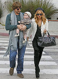 Rachel Zoe and Rodger and Skyler Berman made their way to lunch at Le Pain Quotidien.