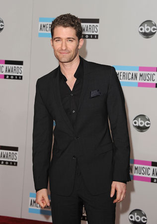 Glee's Matthew Morrison walked the red carpet.