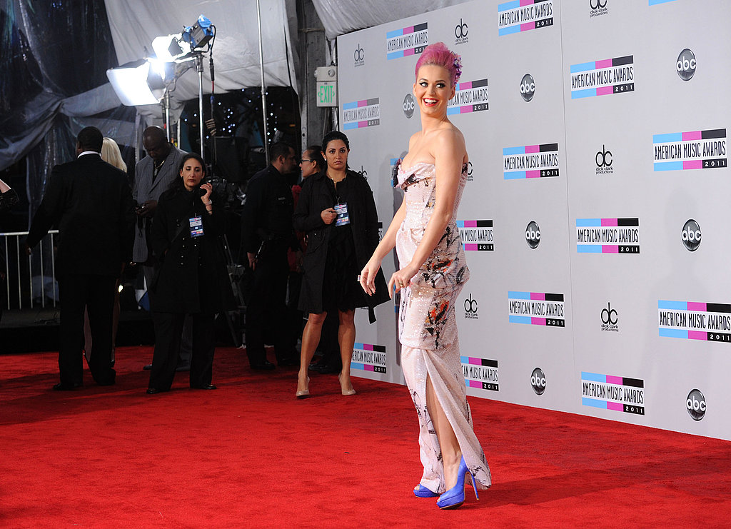 Katy Perry in a pink dress at the American Music Awards.