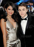Justin Bieber and Selena Gomez cuddled close at the AMAs.