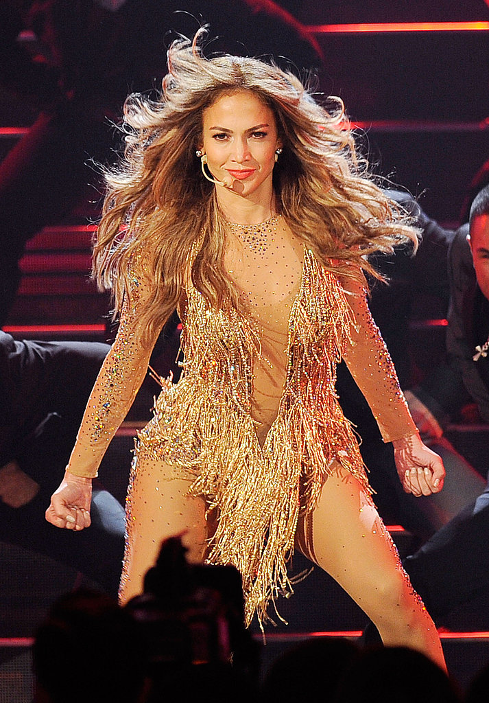 Jennifer Lopez went for the wind effect.