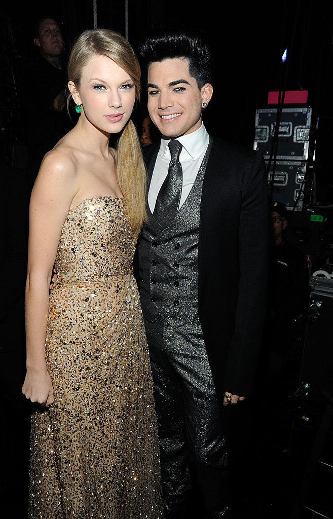Taylor Swift and Adam Lambert posed backstage.