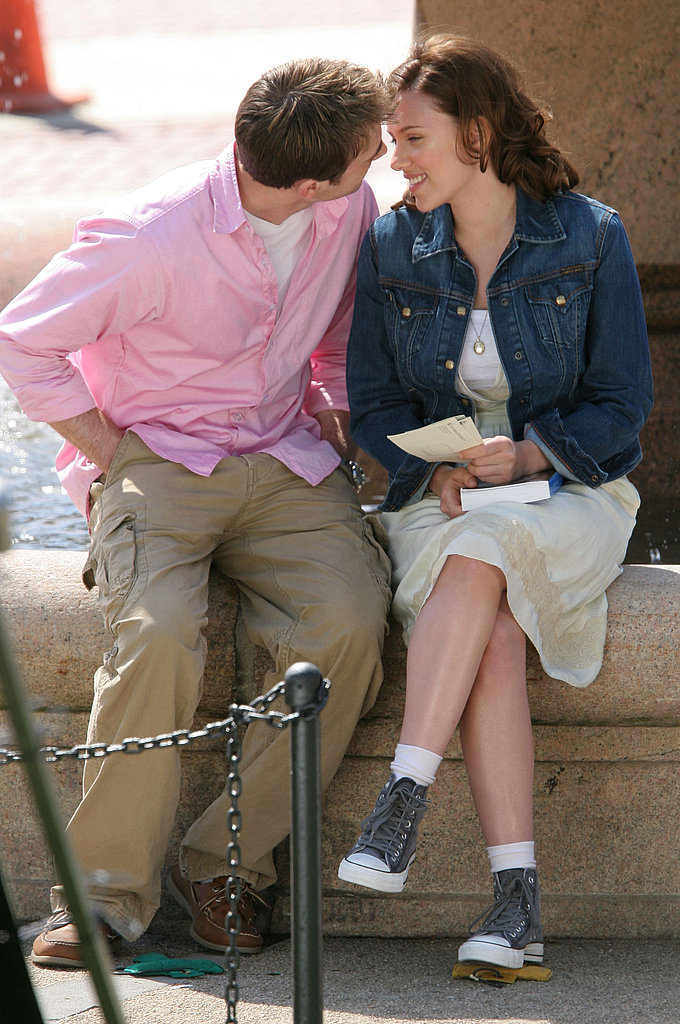 Scarlett Johansson and Chris Evans shared a kiss on the set of The Nanny Diaries in 2006.