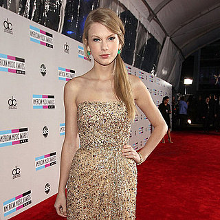 Taylor Swift Reem Acra Dress on AMAs Red Carpet Pictures