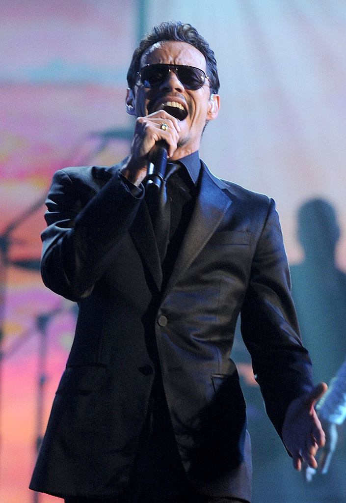 Marc Anthony sang onstage.