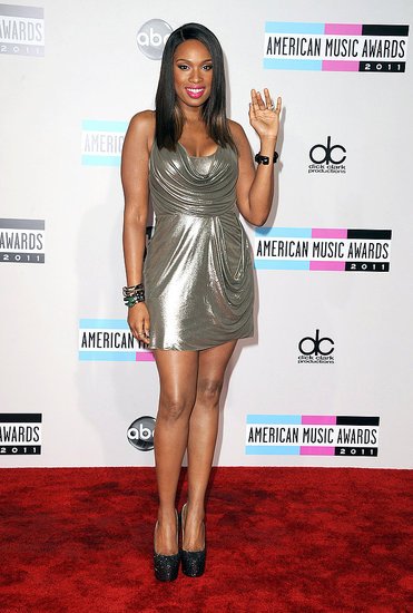 Jennifer Hudson showed off her amazing figure in a slinky silver dress.