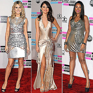 Metallic Dresses at American Music Awards 2011