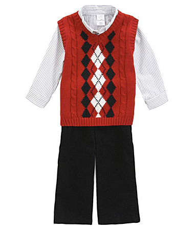 Infant Argyle Sweater Set