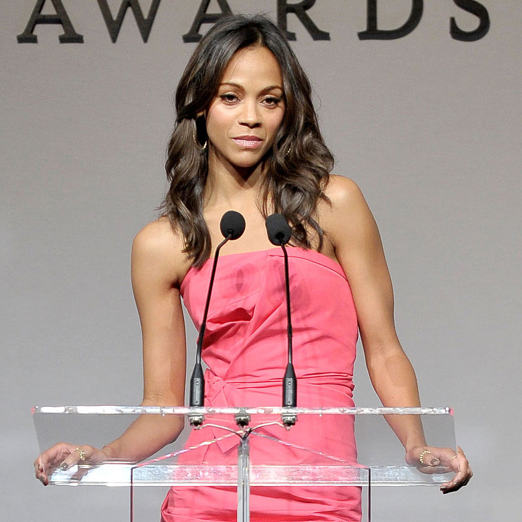 Single Zoe Saldana at Hollywood Style Awards Pictures