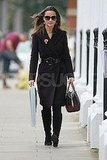 Pippa Middleton wore a Remembrance Day poppy in London.