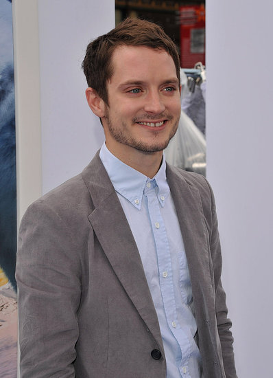 Elijah Wood ditched a tie at the Happy Feet Two premiere.