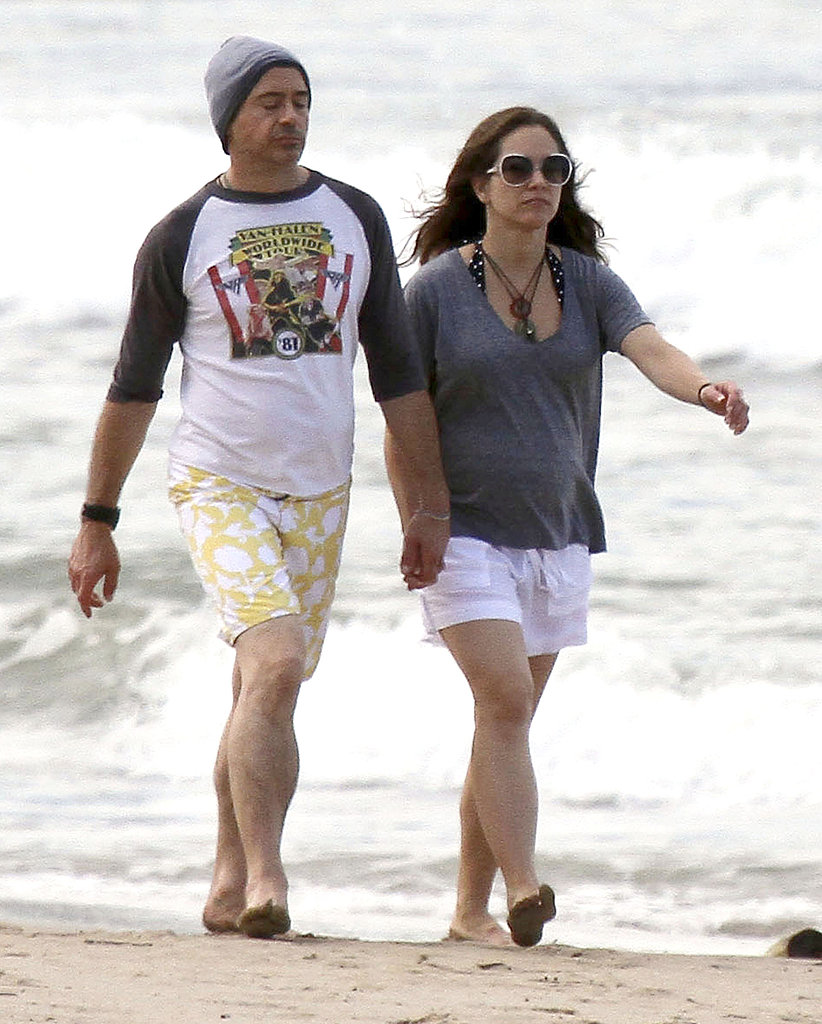 Robert Downey Jr. and his wife, Susan, in Hawaii.
