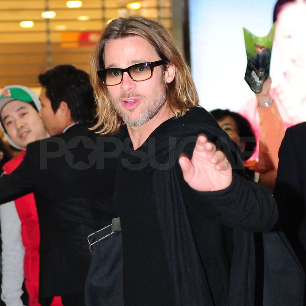 Brad Pitt waved to his adoring fans.