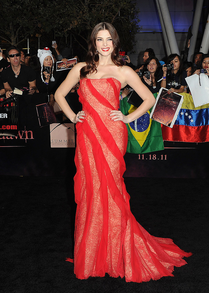 Ashley Greene dazzled in red.