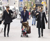 Lily Aldridge admired Flynn Bloom, while Miranda Kerr pushed his stroller in NYC.