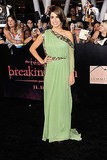 Nikki Reed sparkled in Marchesa.