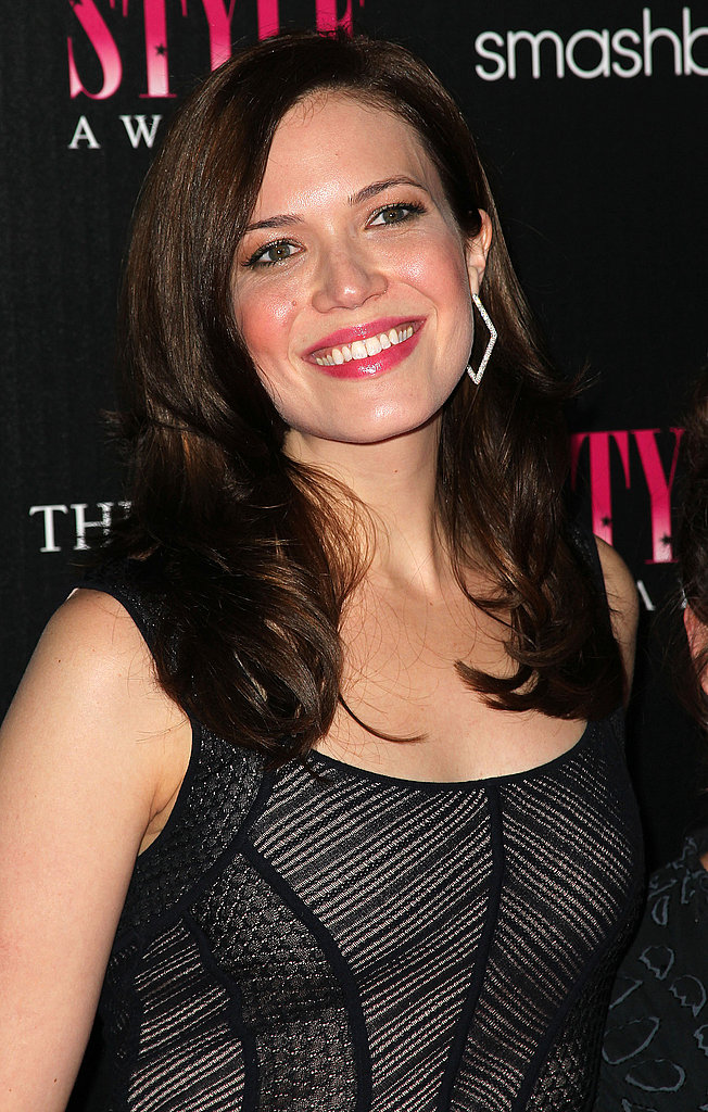 Mandy Moore looked glamorous in black.