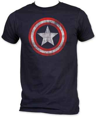 Captain America Star Distressed Logo T-shirt ($18-22)