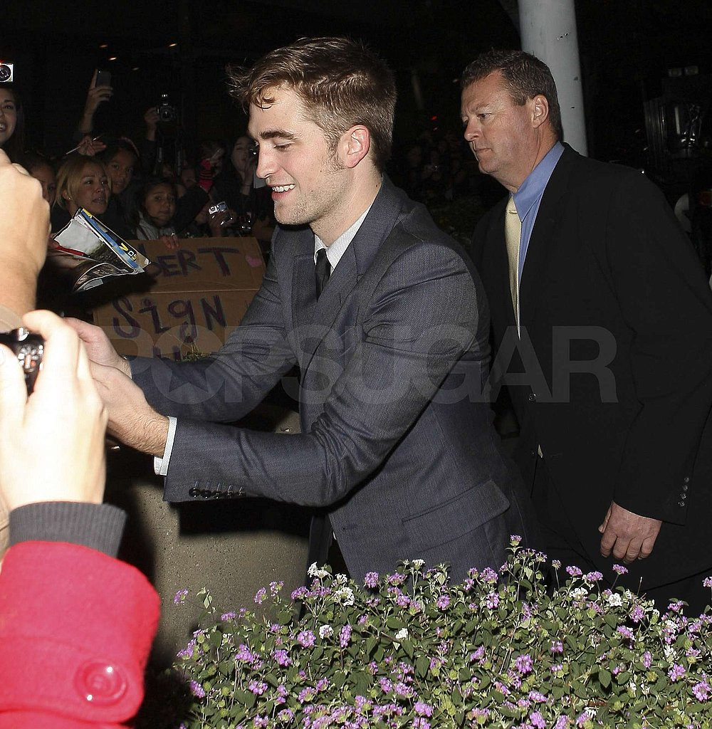 Robert Pattinson said hello to fans.