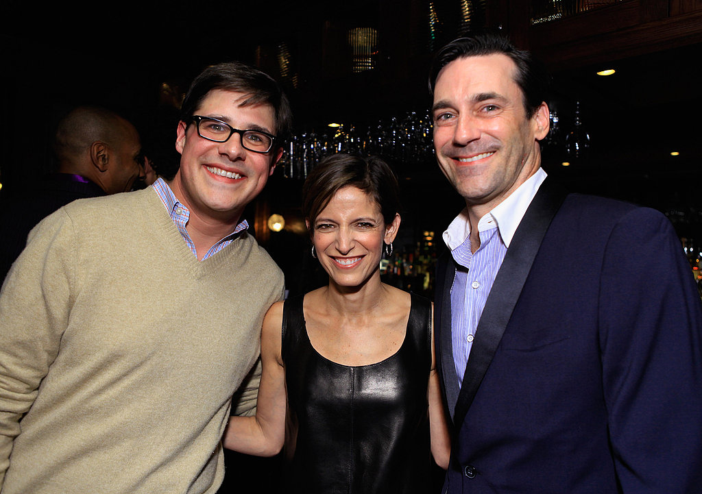 Jon Hamm snapped photos with partygoers.