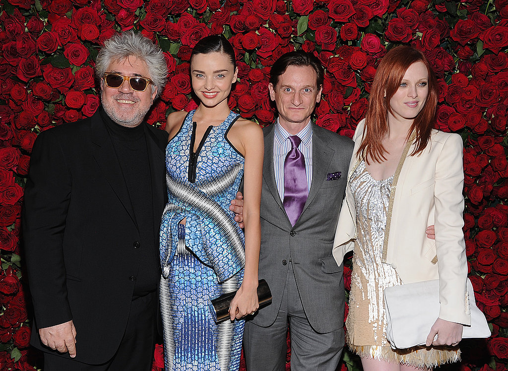 Pedro Almodovar, Miranda Kerr, Hamish Bowles and Karen Elson mingled at a MoMA party.