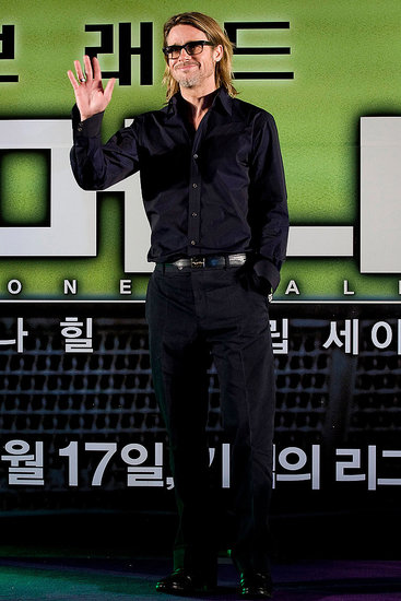 Brad Pitt gave a wave in Seoul.