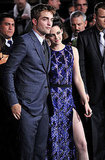 Kristen Stewart rested her head on Robert Pattinson's shoulder.