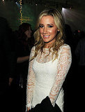 Ashley Tisdale donned a little lace dress to the Breaking Dawn premiere party.