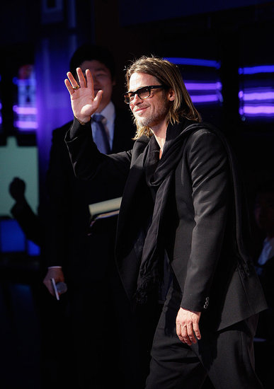 Brad Pitt Shows Up in Seoul For His Latest Moneyball Premiere