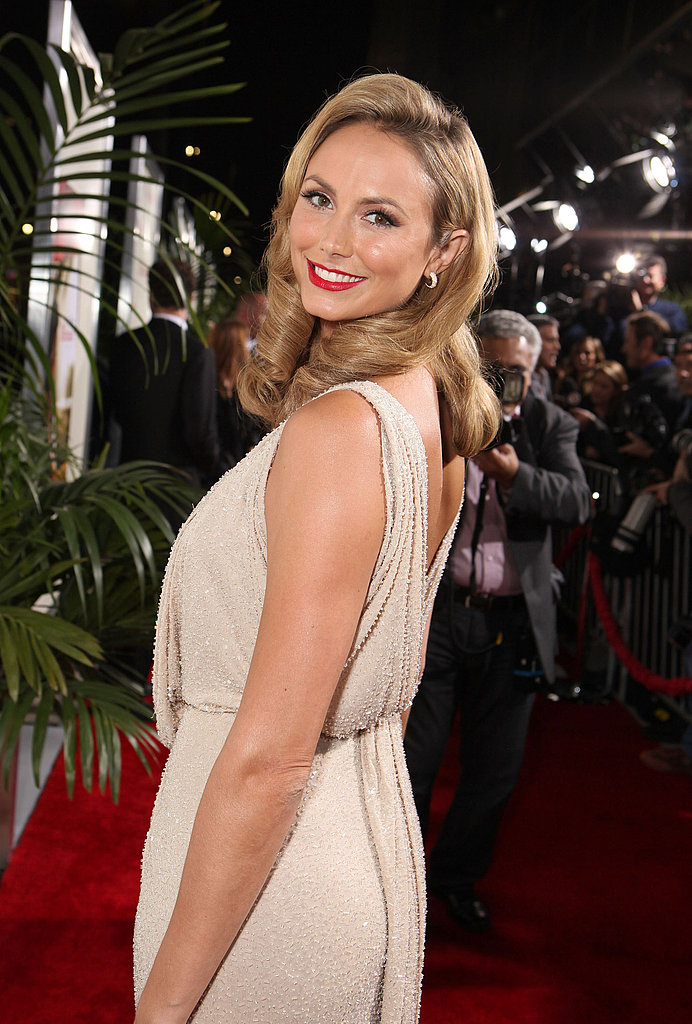 Stacy Keibler showed off the back of her dress.