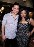 Jimmy Kimmel walked across the street to the Roosevelt following last night's show to hang out with Mindy.