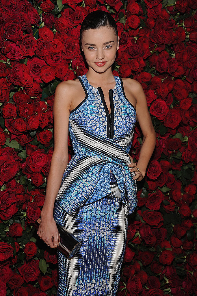 Miranda Kerr was radiant in blue.