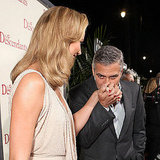 George Clooney and Stacy Keibler Kissing Pictures