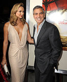 Stacy Keibler let George Clooney have his moment on the red carpet.