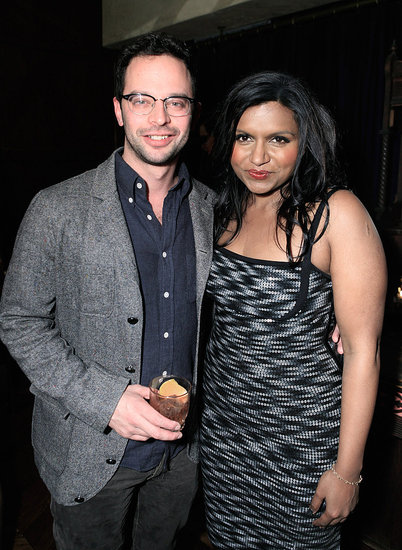 Comedian Nick Kroll hung out with Mindy at the party.