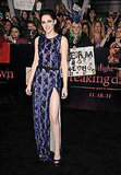 Kristen wowed in a leg-baring J.Mendel gown at the Breaking Dawn Part 1 premiere in LA.