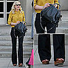 Kirsten Dunst Wearing Yellow Button-Down Fall 2011