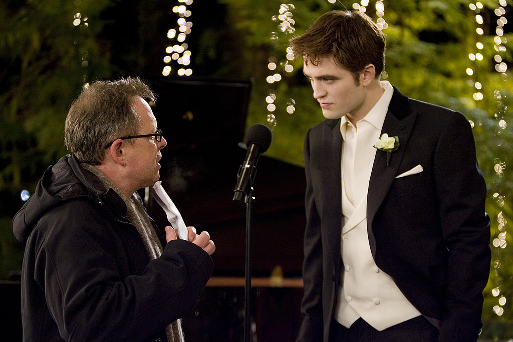 Bill Condon chatted with Robert Pattinson prior to Edward and Bella's climactic wedding scene.