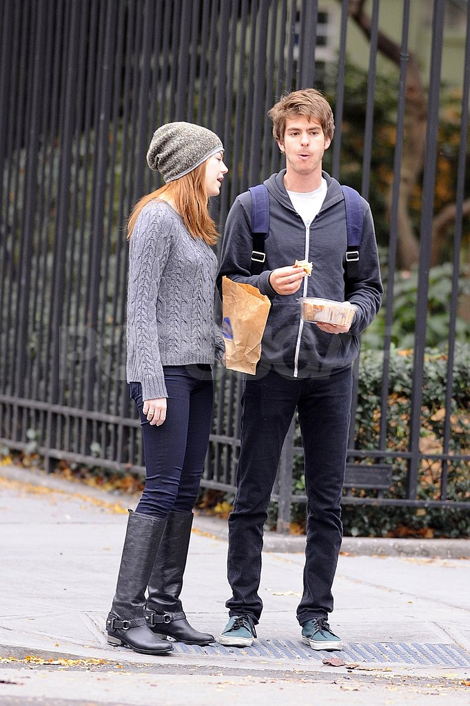 Emma Stone and Andrew Garfield went for a walk together in NYC.
