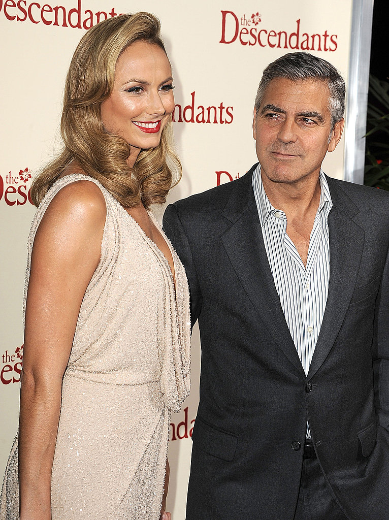 George Clooney admired Stacy Keibler.
