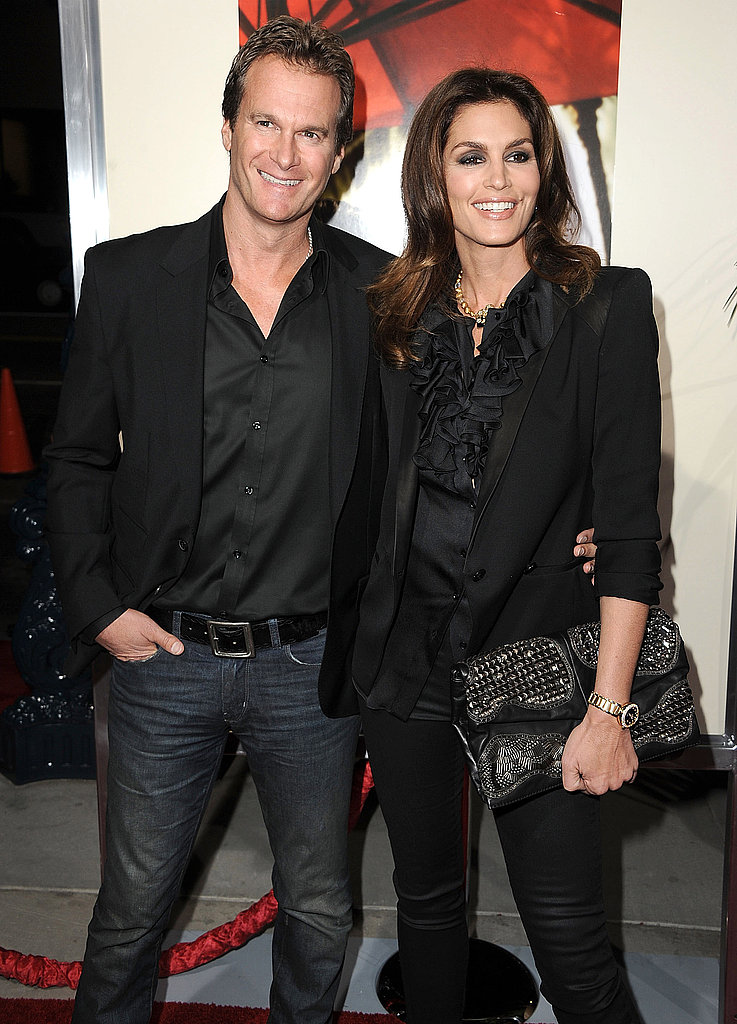 Cindy Crawford and Rande Gerber at The Descendants premiere.
